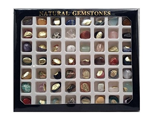 steinset natural gemstones set mit 56 verschiedenen edelsteinen - Steinset Natural Gemstones, Set mit 56 verschiedenen Edelsteinen